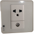 Aluminum-border glass socket TV TEL